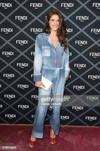 Elisa Sednaoui attends the Fendi show as part of Paris Fashion Week Haute Couture Fall/Winter 2015/2016 on July 8 2015 in Paris France