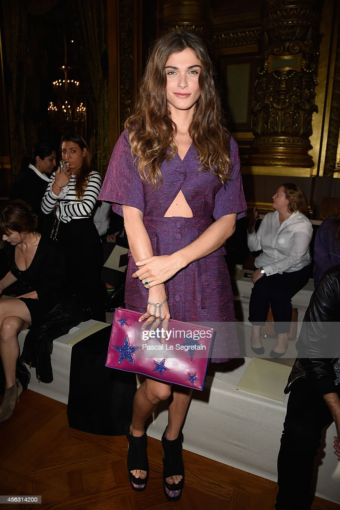 Elisa Sednaoui attends the Stella McCartney show as part of the Paris Fashion Week Womenswear Spring/Summer 2015 on September 29 2014 in Paris France