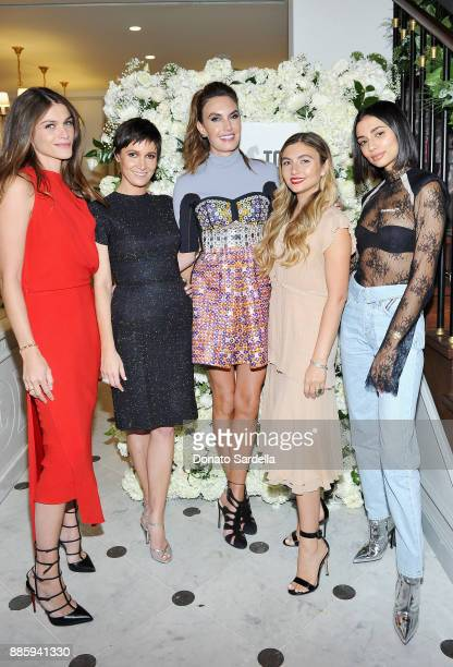 Elisa Sednaoui Dellal Cassandra Grey Elizabeth Chambers Hammer Nasiba Adilova and Kristen Noel Crawley attend The Tot holiday popup celebration at...
