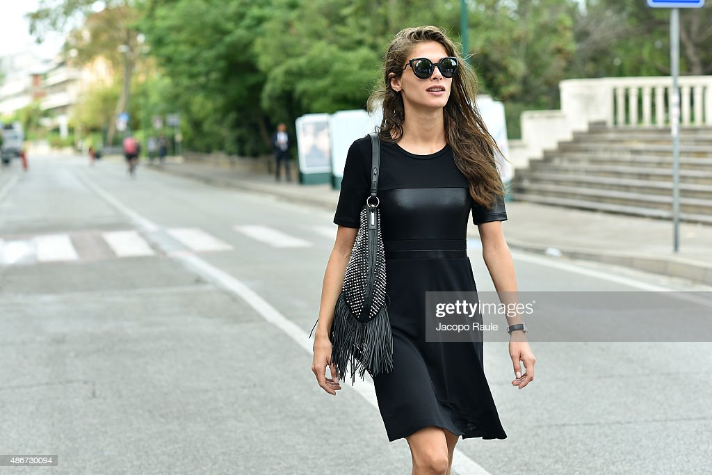 Elisa Sednaoui is seen leaving Excelsior Hotel during the 72nd Venice Film Festival on September 5 2015 in Venice Italy