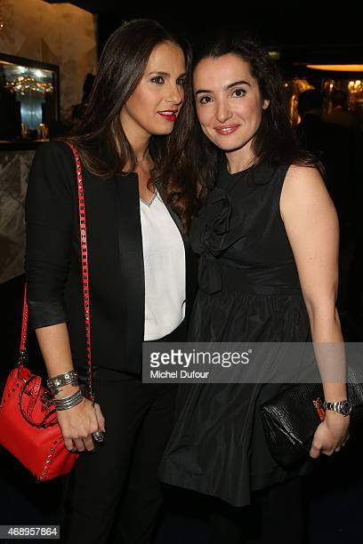 Elisa Tovati and Isabelle Vitari attend the Paris Merveilles' Lido New Revue The Show At Opening Gala In Paris at Le Lido on April 8 2015 in Paris...