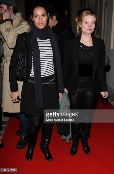 Elisa Tovati and Melanie Thierry attends Etam After Show at Hotel D'Evreux on January 25 2010 in Paris France