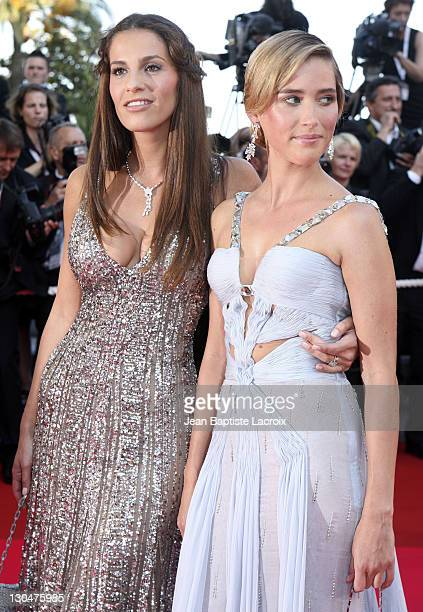 Elisa Tovati and Vahina Giocante during 2007 Cannes Film Festival 'Les Chansons d'Amour' Premiere at Palais des Festivals in Cannes France