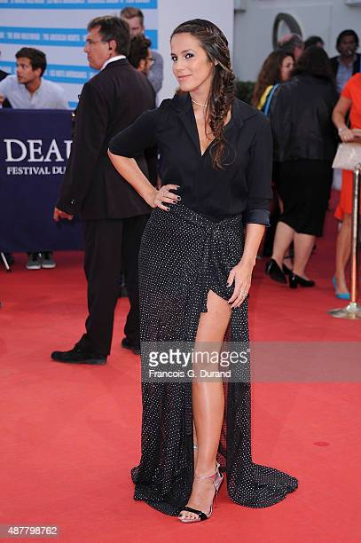 Elisa Tovati arrives at the 'The Man From UNCLE' Premiere during the 41st Deauville American Film Festival on September 11 2015 in Deauville France