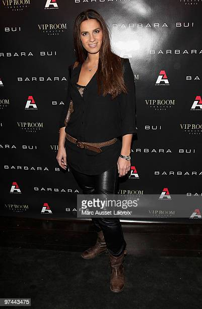 Elisa Tovati attend the Barbara Bui Party at VIP Room Theatre on March 4 2010 in Paris France