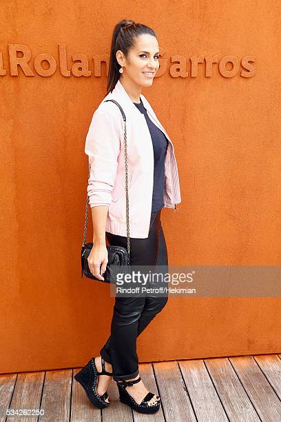 Elisa Tovati attends day four of the French Tennis Open at Roland Garros on May 25 2016 in Paris France