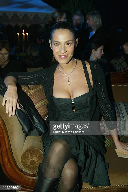 Elisa Tovati during Paris Fashion Week Fall/Winter 2007 John Galliano Front Row at Carreau du Temple in Paris France