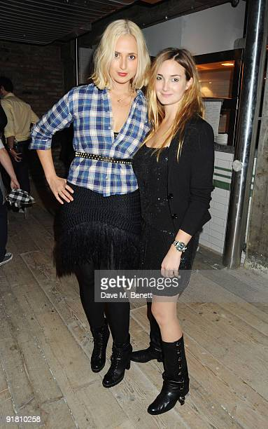 Elisabeth and Maria von Thurn und Taxis attends the Finch's Quarterly Review Party at Pizza East on October 12 2009 in London England