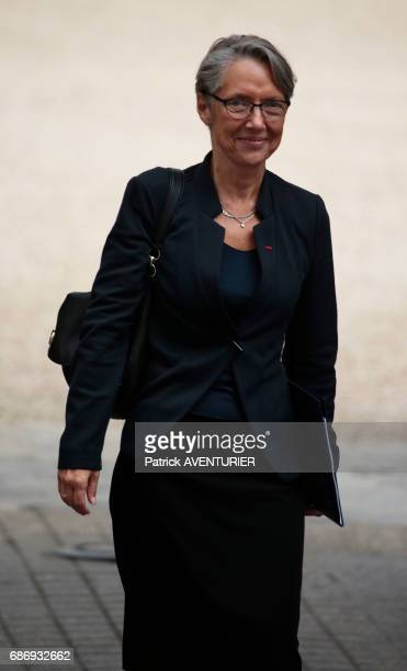Elisabeth Borne France's minister of transport arrives for a cabinet meeting at the Elysée Palace in Paris France on May 18 2017