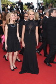 Elisabeth Bost and Laurence Ferrari attend the 'How To Train Your Dragon 2' Premiere at the 67th Annual Cannes Film Festival on May 16 2014 in Cannes...