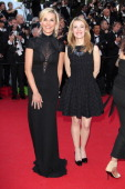 Elisabeth Bost and Laurence Ferrari attend the 'How To Train Your Dragon 2' premiere during the 67th Annual Cannes Film Festival on May 16 2014 in...