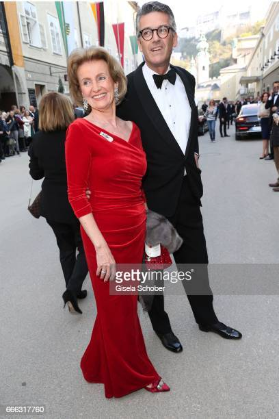 Elisabeth Guertler and Michael Berger Sandhofer during the opening of the Easter Festival 2017 'Walkuere' opera premiere on April 8 2017 in Salzburg...
