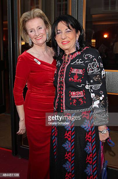 Elisabeth Guertler and Regine Sixt attend the opening of the easter festival 2014 on April 12 2014 in Salzburg Austria