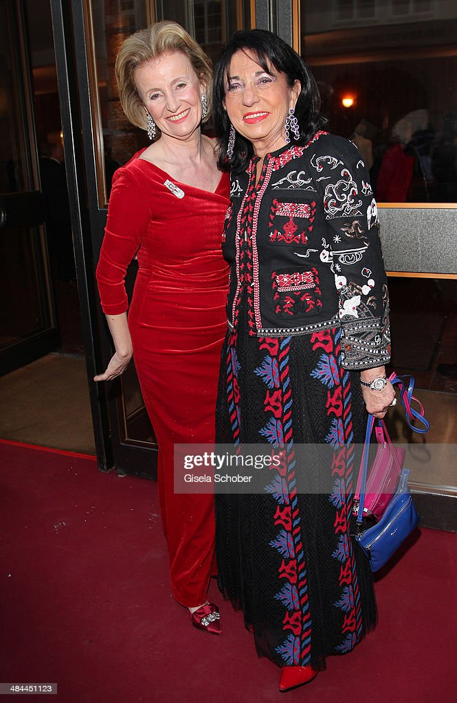 Elisabeth Guertler and Regine Sixt attend the opening of the easter festival 2014 (Osterfestspiele) on April 12, 2014 in Salzburg, Austria.
