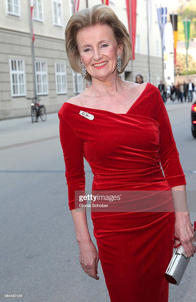 Elisabeth Guertler attends the opening of the easter festival 2014 (Osterfestspiele) on April 12, 2014 in Salzburg, Austria.