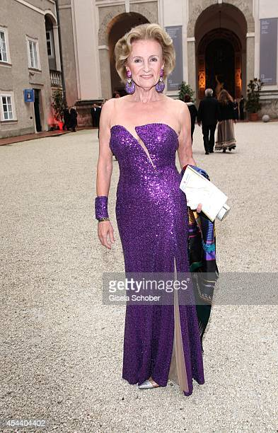 Elisabeth Guertler attends the Salzburg Festival Ball at Felsenreitschule on August 30 2014 in Salzburg Austria