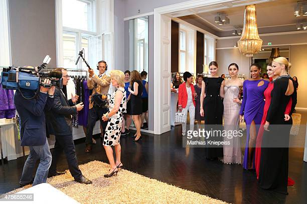 Elisabeth Guertler gives a interview during the Escada 'Fete Imperiale' 2015 on June 2 2015 in Vienna Austria