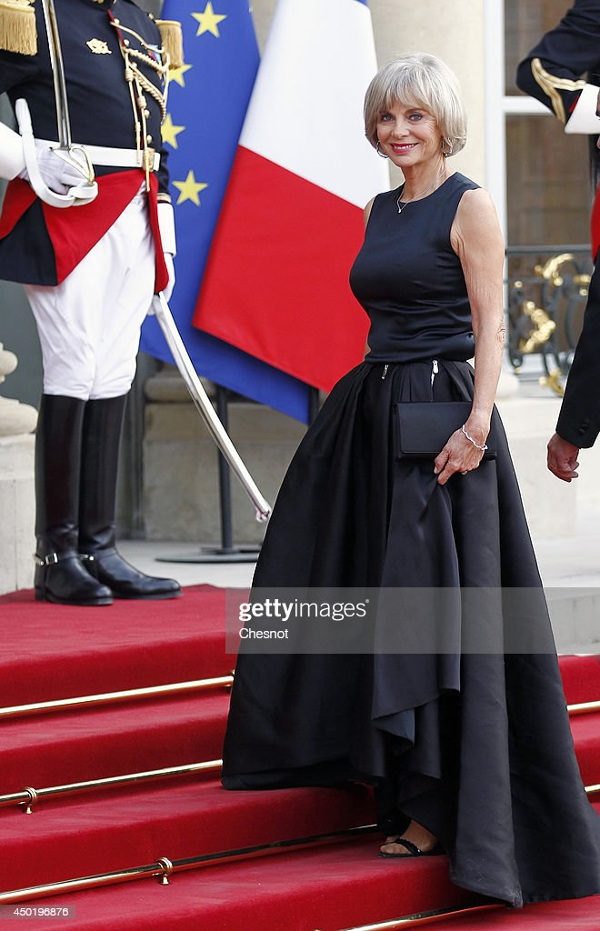 Elisabeth Guigou arrives at the Elysee Palace for a State dinner in honor of Queen Elizabeth II, hosted by French President Francois Hollande as part of a three days State visit of Queen Elizabeth II after the 70th Anniversary Of The D-Day on June 6, 2014 in Paris, France.