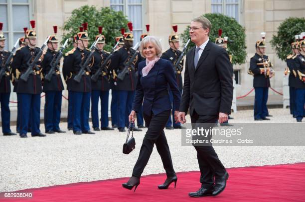 Elisabeth Guigou arrives at the Elysee Palace prior to the handover ceremony for New French President Emmanuel Macron at Elysee Palace on May 14 2017...
