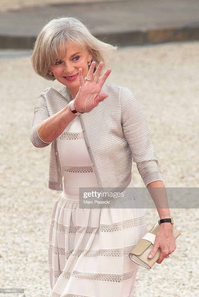 Elisabeth Guigou arrives to attend a state dinner at Palace Elysee on May 7, 2013 in Paris, France.
