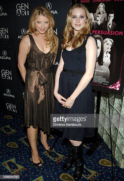 Elisabeth Harnois and Evan Rachel Wood during 'Pretty Persuasion' New York Premiere Hosted by GEN ART Inside Arrivals at Clearview Chelsea West in...