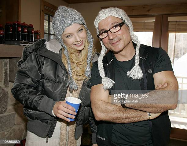 Elisabeth Harnois from the new TV show Point Pleasant' and Biolage hairstylist Enzo Angileri *exclusive*