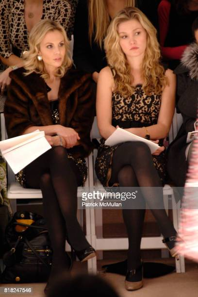 Elisabeth Hasselbeck and Julia Stiles attend MILLY by MICHELLE SMITH Fall 2010 Collection at Bryant Park Tents on February 17 2010 in New York City