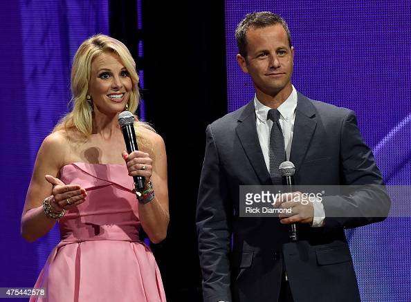 Elisabeth Hasselbeck and Kirk Cameron host the 3rd Annual KLOVE Fan Awards onstage at the Grand Ole Opry House on May 31 2015 in Nashville Tennessee