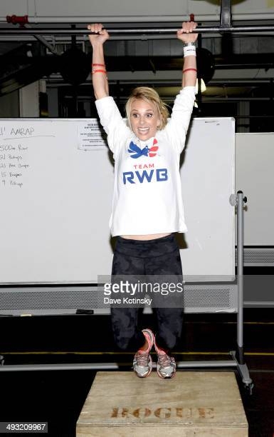 Elisabeth Hasselbeck attends the BandAid Brand Team Red White And Blue Host CrossFit Event For Veteran Heroes on May 22 2014 in New York City