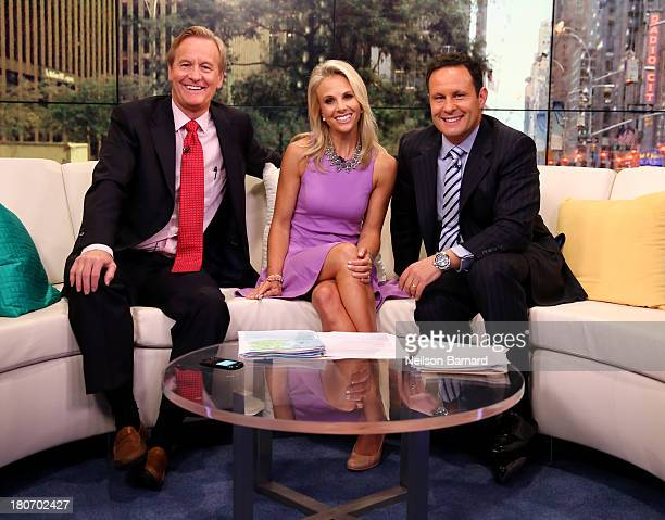 Elisabeth Hasselbeck Joins 'FOX Friends' hosts Steve Doocy and Brian Kilmeade at FOX Studios on September 16 2013 in New York City