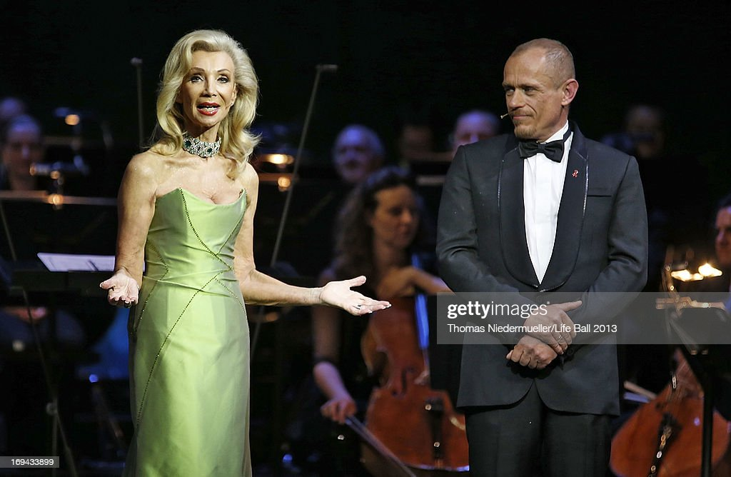 Elisabeth Himmer-Hirnigel and Gery Keszler attend the 'Red Ribbon Celebration Concert - United in Difference' at Burgtheater on May 24, 2013 in Vienna, Austria.