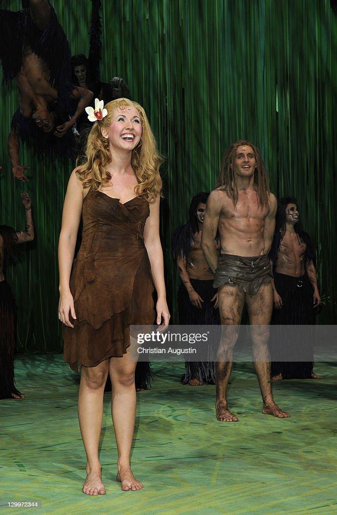 Elisabeth Huebert and Alexander Klaws attend Tarzan Musical 3rd Anniversary on son October 22, 2011 in Hamburg, Germany.