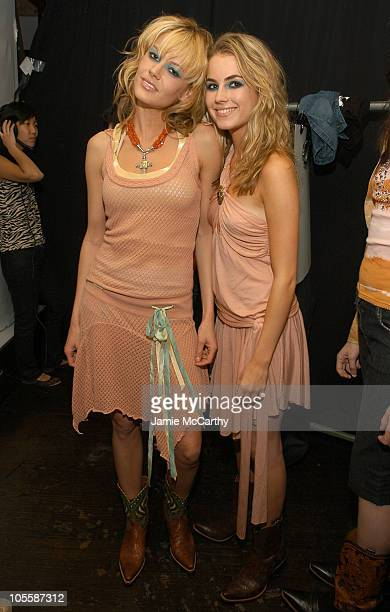 Elisabeth Kiestelstein Cord and Amanda Hearst during Spring 2005 Showing and Celebration of Millergirl at PM Nightclub in New York City New York...