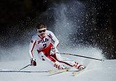 Elisabeth Kirchler of Austria during the International Ski Federation Women's Giant Slalom at the FIS Alpine World Ski Championship on 5 February...