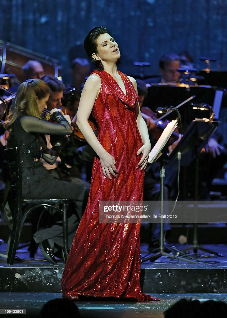 Elisabeth Kulman performs at the 'Red Ribbon Celebration Concert - United in Difference' at Burgtheater on May 24, 2013 in Vienna, Austria.