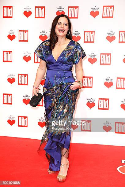 Elisabeth Lanz attends the Ein Herz Fuer Kinder Gala 2015 at Tempelhof Airport on December 5 2015 in Berlin Germany