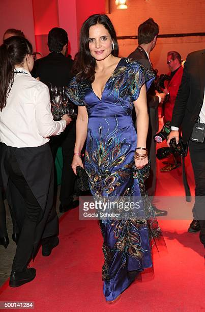 Elisabeth Lanz attends the Ein Herz Fuer Kinder Gala 2015 reception at Tempelhof Airport on December 5 2015 in Berlin Germany