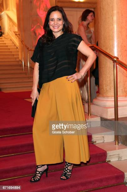 Elisabeth Lanz wearing an outfit by Nobieh Talaeii during the ROMY award at Hofburg Vienna on April 22 2017 in Vienna Austria
