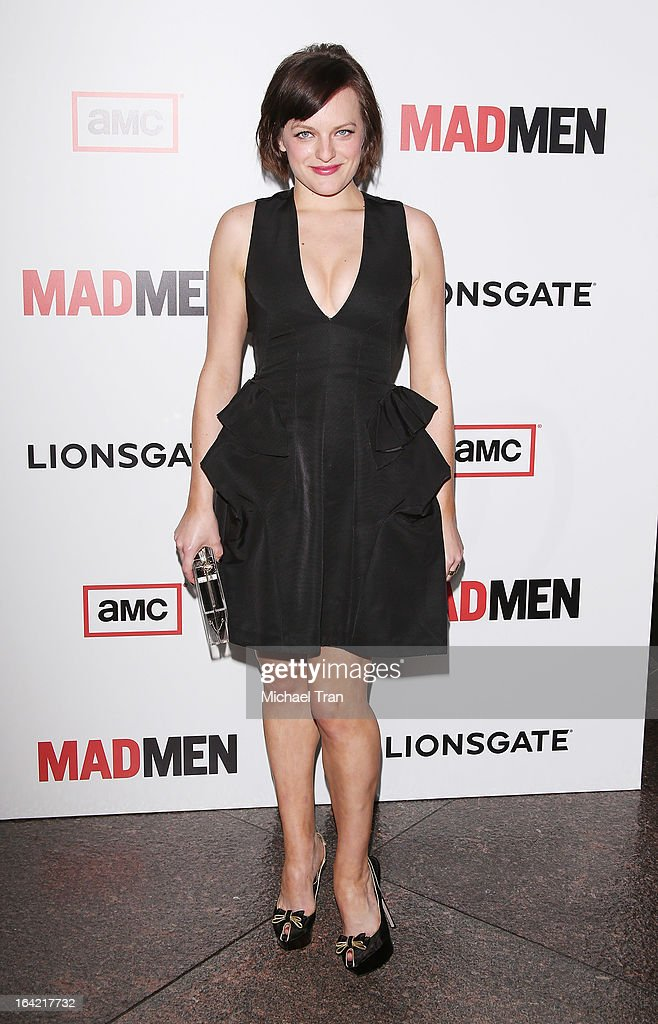 Elisabeth Moss arrives at AMC's 'Mad Men' season 6 premiere held at DGA Theater on March 20, 2013 in Los Angeles, California.