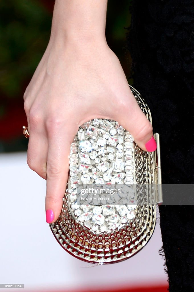 Elisabeth Moss (detail) arrives at the 19th Annual Screen Actors Guild Awards held at The Shrine Auditorium on January 27, 2013 in Los Angeles, California.