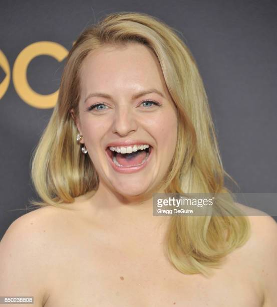 Elisabeth Moss arrives at the 69th Annual Primetime Emmy Awards at Microsoft Theater on September 17 2017 in Los Angeles California
