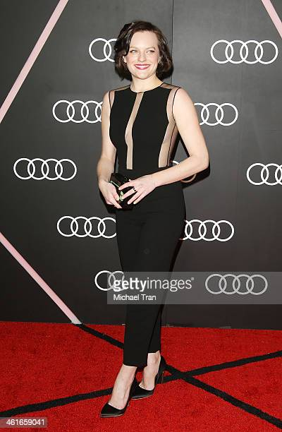 Elisabeth Moss arrives at the Audi Golden Globe 2014 kick off cocktail party held at Cecconi's Restaurant on January 9 2014 in Los Angeles California