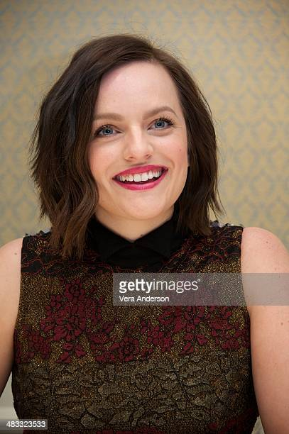 Elisabeth Moss at the 'Mad Men' Press Conference at the Four Seasons Hotel on April 4 2014 in Beverly Hills California