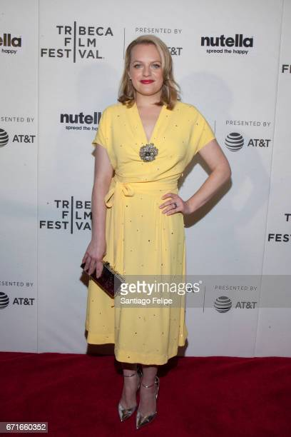 Elisabeth Moss attends 2017 Tribeca Film Festival at Regal Battery Park Cinemas on April 22 2017 in New York City