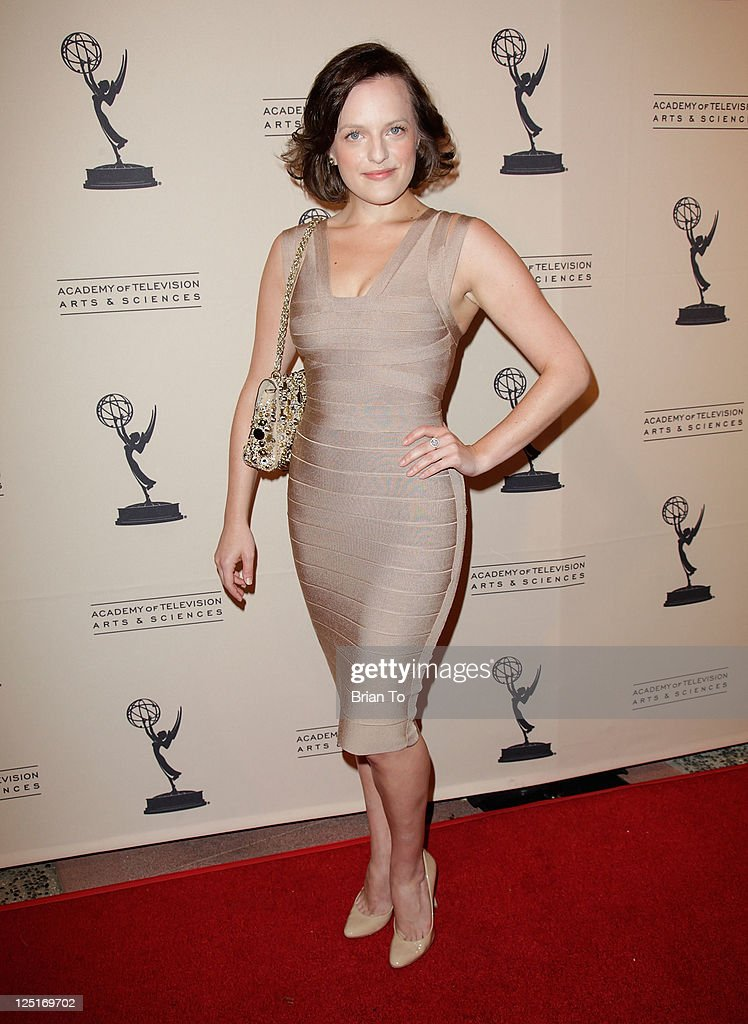 <a gi-track='captionPersonalityLinkClicked' href=/galleries/search?phrase=Elisabeth+Moss&family=editorial&specificpeople=3079265 ng-click='$event.stopPropagation()'>Elisabeth Moss</a> attends 63rd primetime Emmy writers nominee reception at Leonard H. Goldenson Theatre on September 15, 2011 in North Hollywood, California.