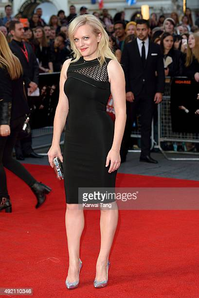 Elisabeth Moss attends a screening of 'High Rise' during the BFI London Film Festival at Odeon Leicester Square on October 9 2015 in London England