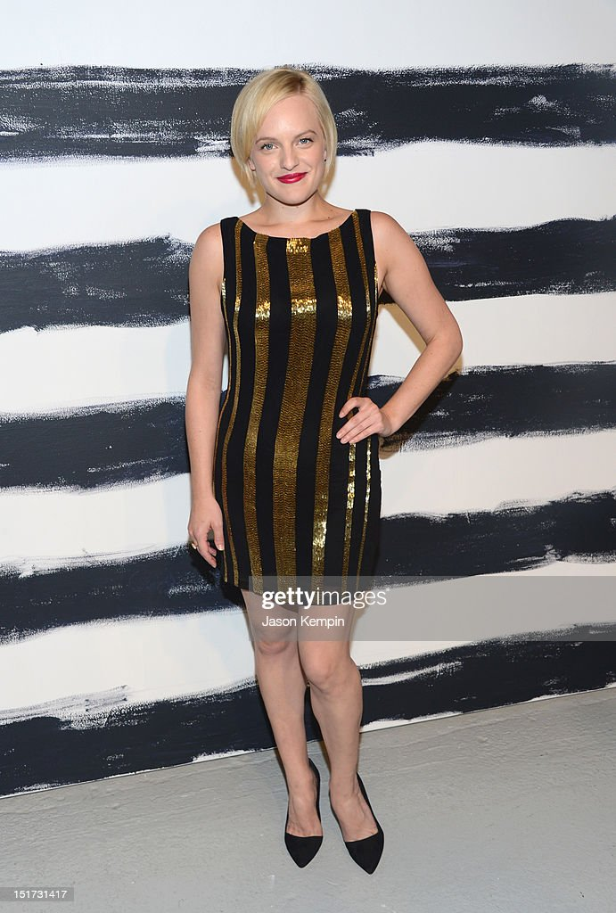 Elisabeth Moss attends Alice + Olivia By Stacey Bendet Spring 2013 Mercedes-Benz Fashion Week at Century 548 on September 10, 2012 in New York City.