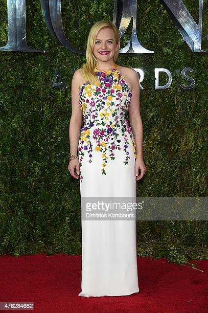 Elisabeth Moss attends the 2015 Tony Awards at Radio City Music Hall on June 7 2015 in New York City