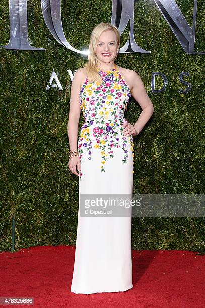 Elisabeth Moss attends the American Theatre Wing's 69th Annual Tony Awards at Radio City Music Hall on June 7 2015 in New York City