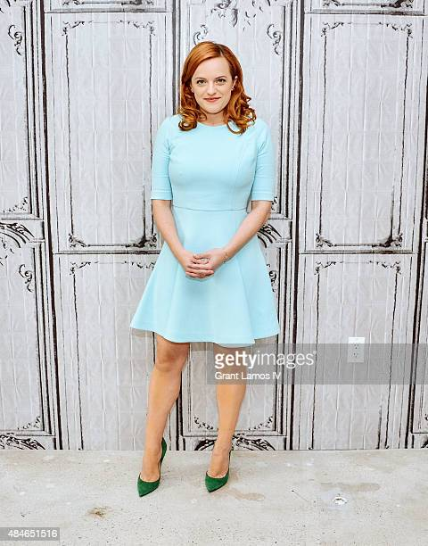 Elisabeth Moss attends the AOL's BUILD Speaker Series Present 'Queen Of Earth' at AOL Studios in New York on August 20 2015 in New York City